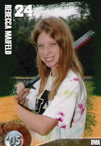 Rebecca's GRCC 'UMA' #24 Baseball Card Picture from 2005