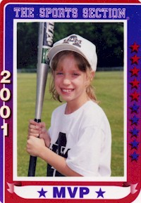 Rebecca's Baseball Card Picture from Summer 2001