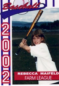 Rebecca's Baseball Card Picture from Summer 2002