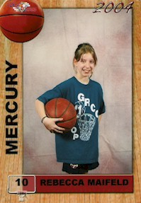 Rebecca's Basketball Card Picture from Winter 2004