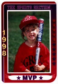 Rebecca's T-Ball Card Picture from '98