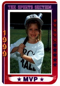 Rebecca's T-Ball Card Picture from '99