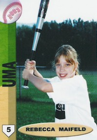 Rebecca's Baseball Card Picture from Summer 2003