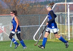 Rebecca's and sister playing Field Hockey together from 2008